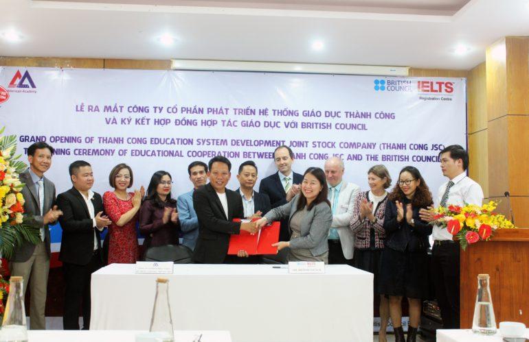 AMA ra mắt công ty Cổ phần Phát triển Hệ thống Giáo dục Thành Công và ký kết hợp đồng hợp tác giáo dục với British Council